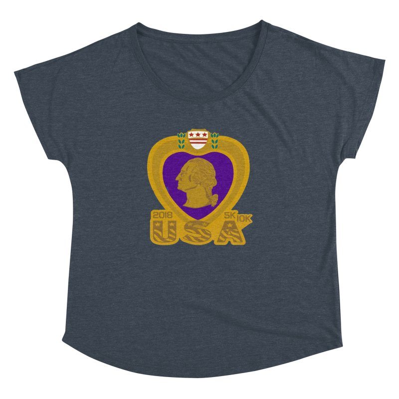 Purple Heart Day 5K & 10K Women's Dolman by moonjoggers's Artist Shop