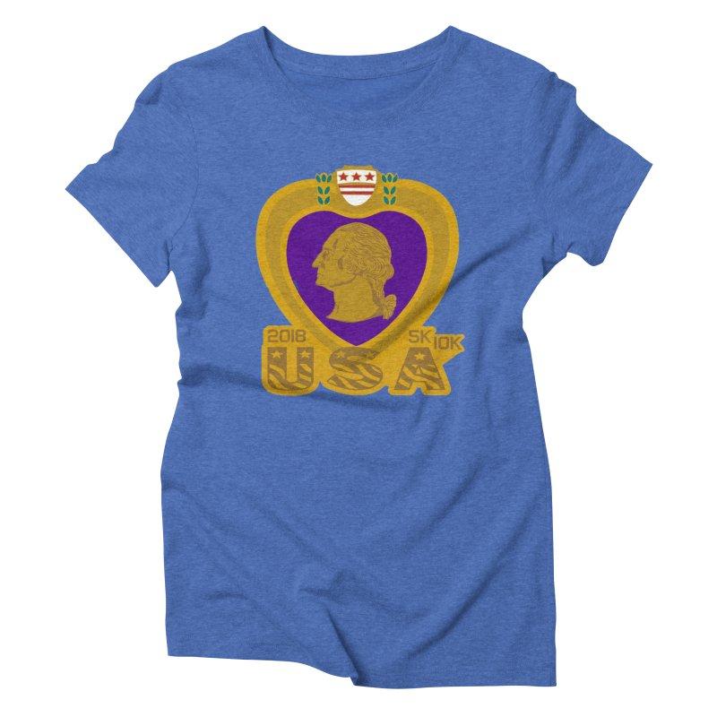 Purple Heart Day 5K & 10K Women's Triblend T-Shirt by moonjoggers's Artist Shop