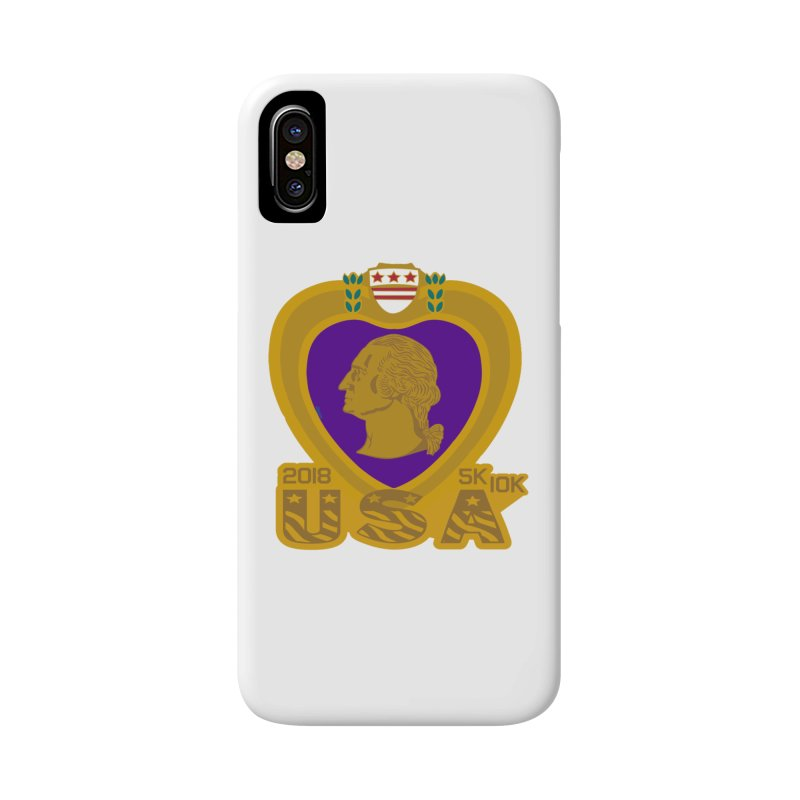 Purple Heart Day 5K & 10K Accessories Phone Case by moonjoggers's Artist Shop