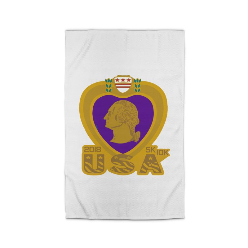 Purple Heart Day 5K & 10K Home Rug by moonjoggers's Artist Shop