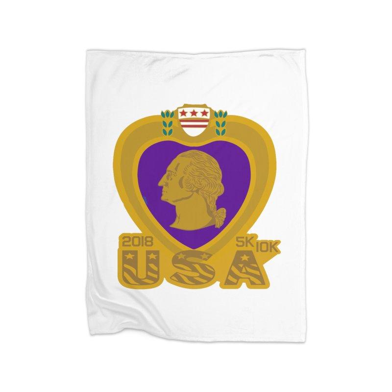 Purple Heart Day 5K & 10K Home Blanket by moonjoggers's Artist Shop