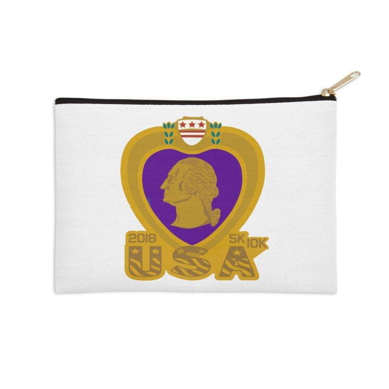 Purple Heart Day 5K & 10K Accessories Zip Pouch by moonjoggers's Artist Shop