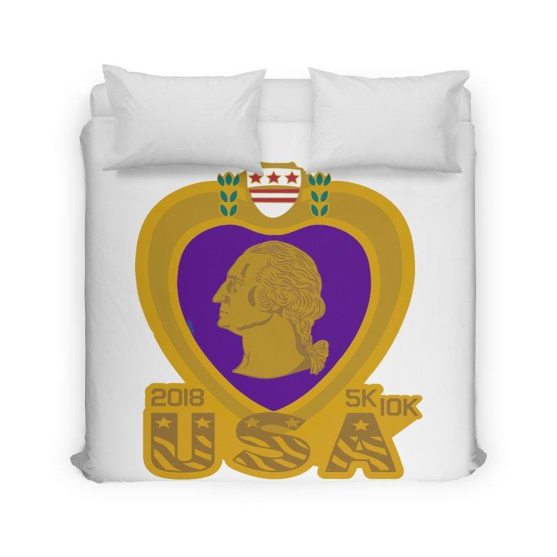 Purple Heart Day 5K & 10K Home Duvet by moonjoggers's Artist Shop