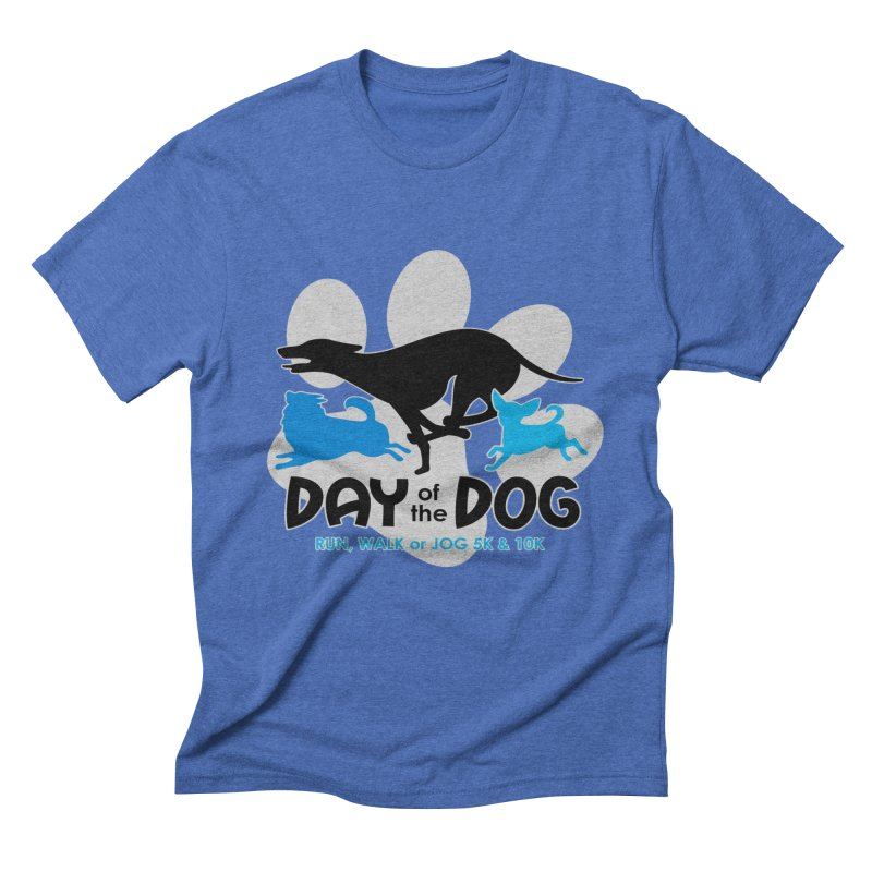 Day of the Dog - Run, Walk or Jog 5K & 10K Men's Triblend T-Shirt by moonjoggers's Artist Shop