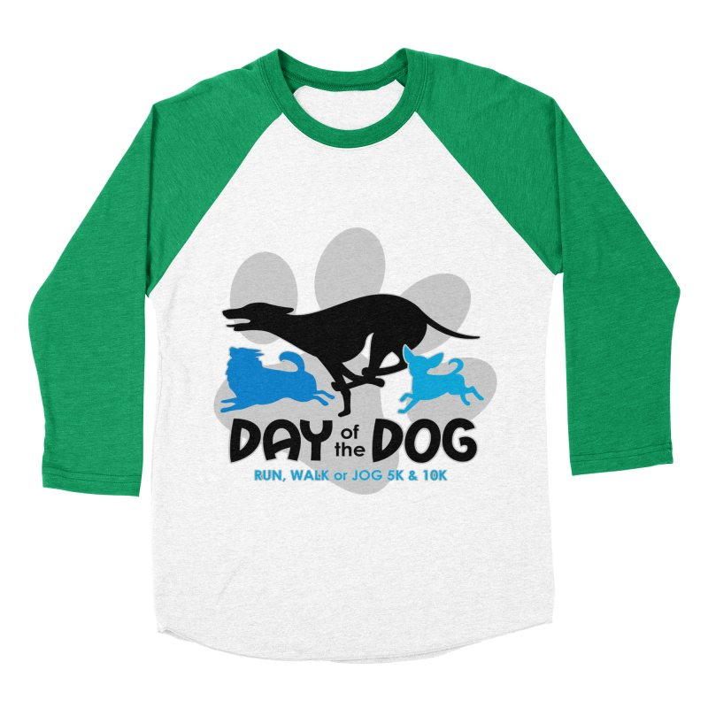 Day of the Dog - Run, Walk or Jog 5K & 10K Men's Baseball Triblend T-Shirt by moonjoggers's Artist Shop