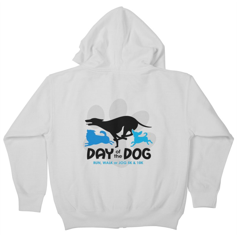 Day of the Dog - Run, Walk or Jog 5K & 10K Kids Zip-Up Hoody by moonjoggers's Artist Shop