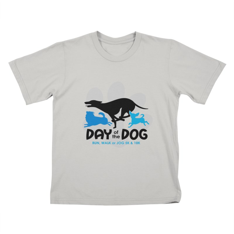 Day of the Dog - Run, Walk or Jog 5K & 10K Kids T-Shirt by moonjoggers's Artist Shop