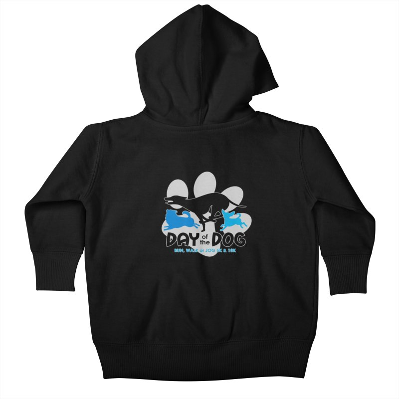 Day of the Dog - Run, Walk or Jog 5K & 10K Kids Baby Zip-Up Hoody by moonjoggers's Artist Shop