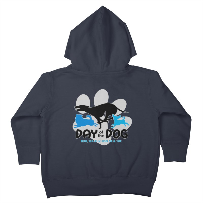 Day of the Dog - Run, Walk or Jog 5K & 10K Kids Toddler Zip-Up Hoody by moonjoggers's Artist Shop