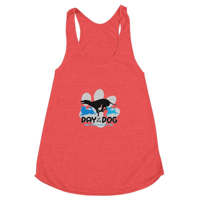 Day of the Dog - Run, Walk or Jog 5K & 10K Women's Racerback Triblend Tank by moonjoggers's Artist Shop