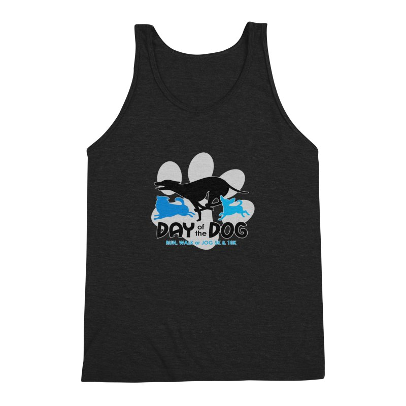 Day of the Dog - Run, Walk or Jog 5K & 10K Men's Triblend Tank by moonjoggers's Artist Shop