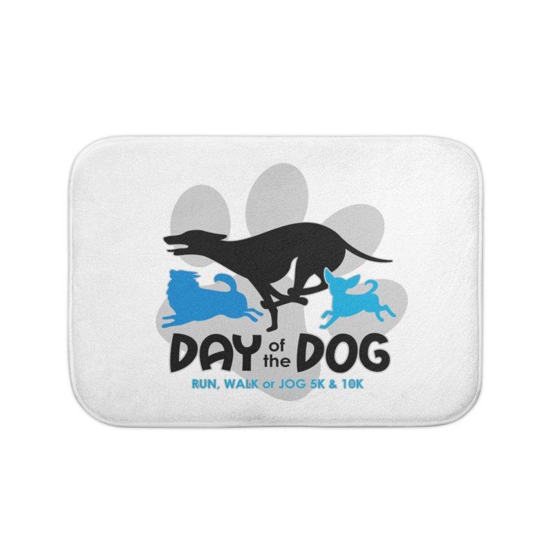 Day of the Dog - Run, Walk or Jog 5K & 10K Home Bath Mat by moonjoggers's Artist Shop