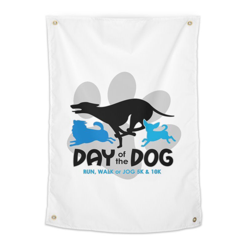 Day of the Dog - Run, Walk or Jog 5K & 10K Home Tapestry by moonjoggers's Artist Shop
