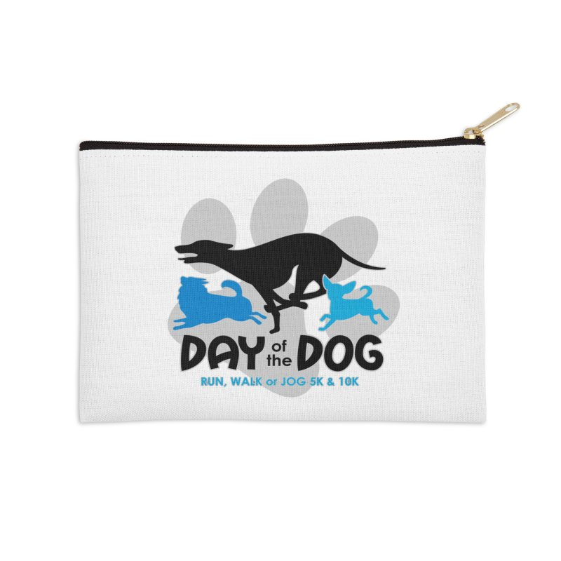 Day of the Dog - Run, Walk or Jog 5K & 10K Accessories Zip Pouch by moonjoggers's Artist Shop