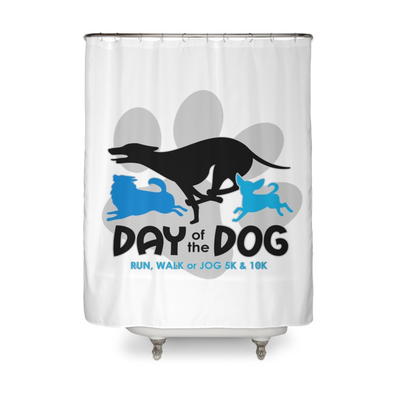 Day of the Dog - Run, Walk or Jog 5K & 10K Home Shower Curtain by moonjoggers's Artist Shop