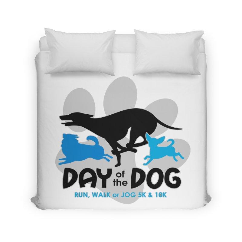 Day of the Dog - Run, Walk or Jog 5K & 10K Home Duvet by moonjoggers's Artist Shop