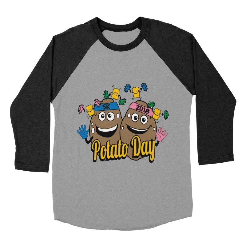 Potato Day 5K & 10K Men's Baseball Triblend T-Shirt by moonjoggers's Artist Shop