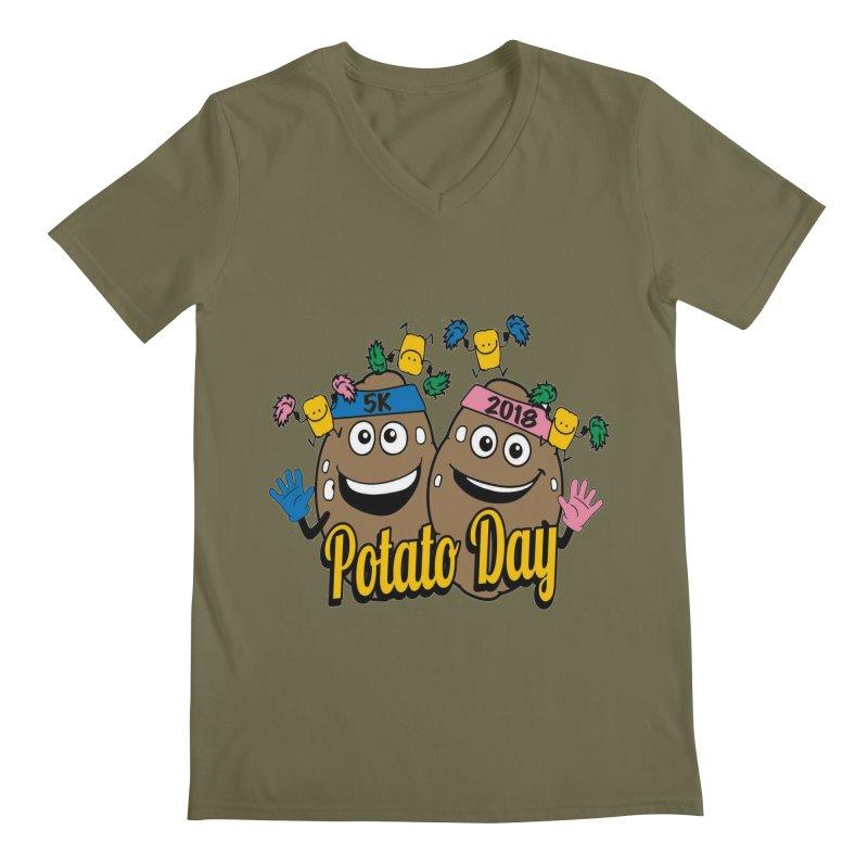 Potato Day 5K & 10K Men's V-Neck by moonjoggers's Artist Shop