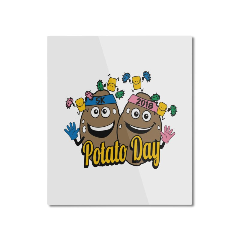 Potato Day 5K & 10K Home Mounted Aluminum Print by moonjoggers's Artist Shop