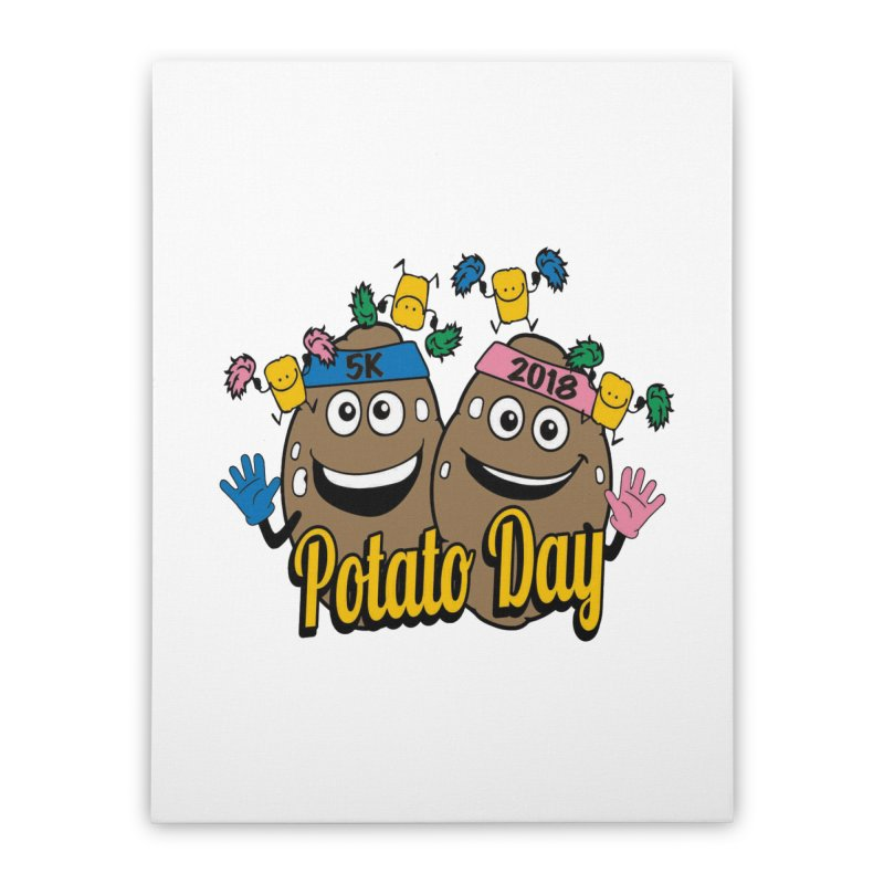 Potato Day 5K & 10K Home Stretched Canvas by moonjoggers's Artist Shop