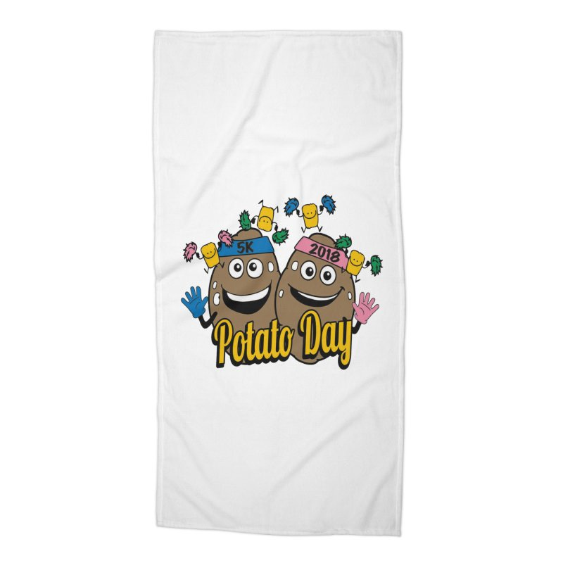 Potato Day 5K & 10K Accessories Beach Towel by moonjoggers's Artist Shop