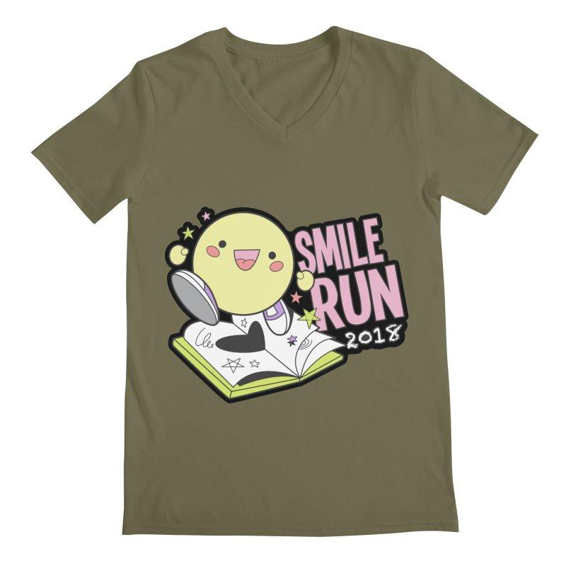 Smile Run 2018 Men's V-Neck by moonjoggers's Artist Shop