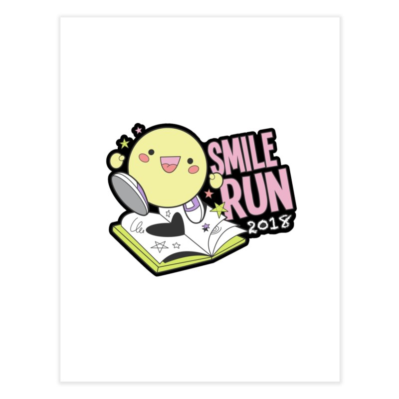 Smile Run 2018 Home Fine Art Print by moonjoggers's Artist Shop