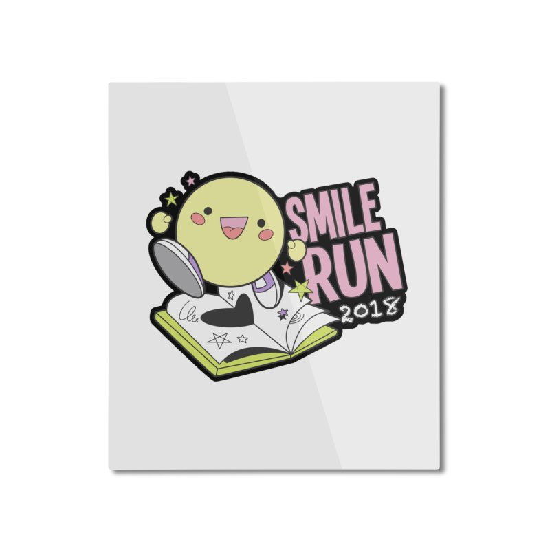 Smile Run 2018 Home Mounted Aluminum Print by moonjoggers's Artist Shop