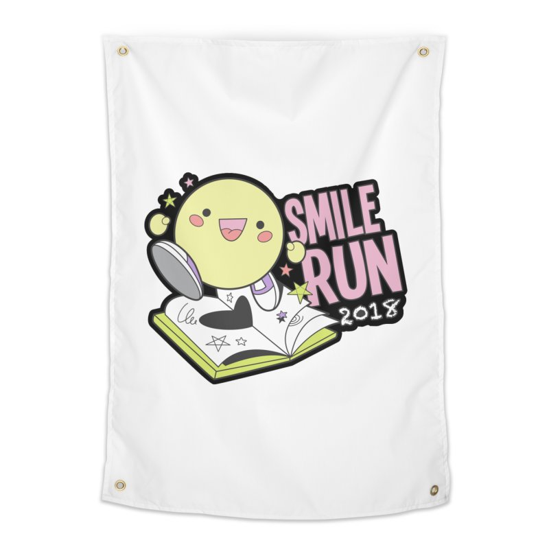 Smile Run 2018 Home Tapestry by moonjoggers's Artist Shop