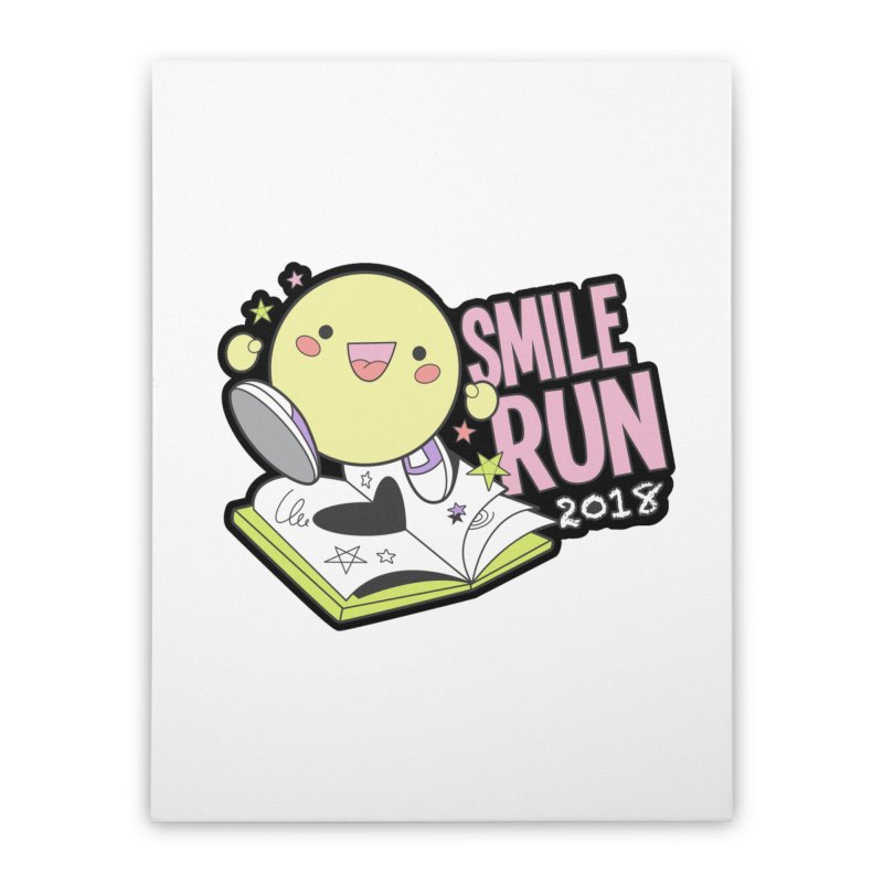 Smile Run 2018 Home Stretched Canvas by moonjoggers's Artist Shop