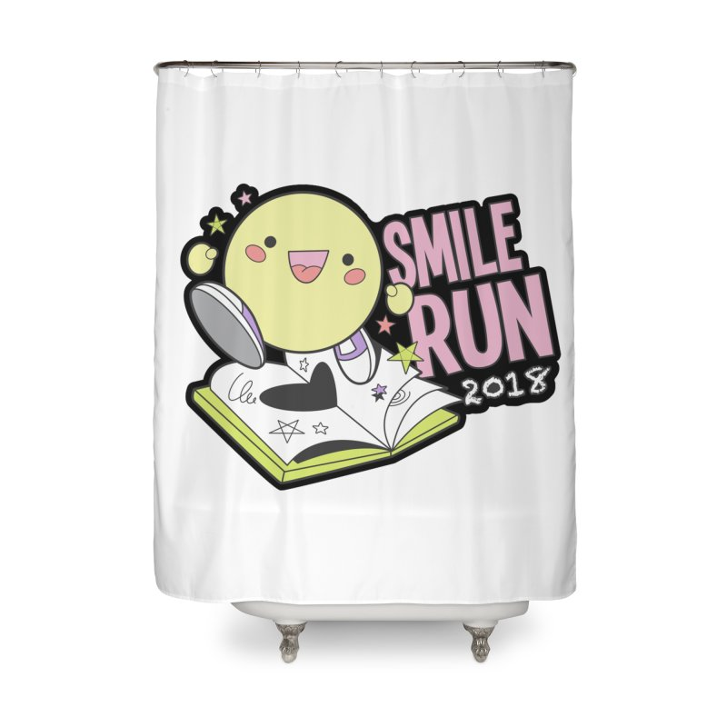 Smile Run 2018 Home Shower Curtain by moonjoggers's Artist Shop