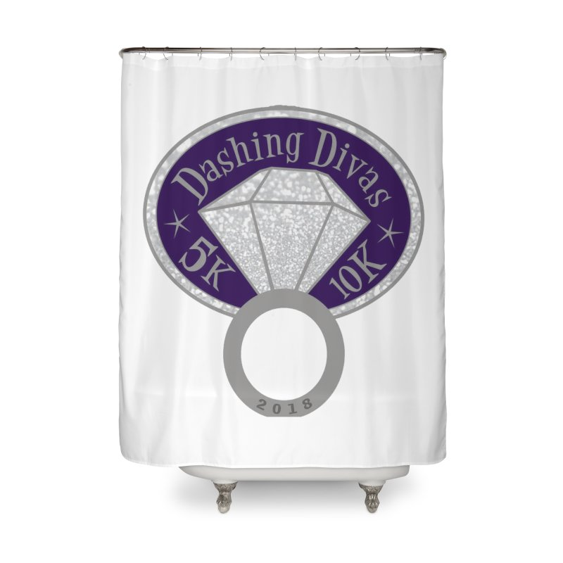 Dashing Divas 5K & 10K Home Shower Curtain by moonjoggers's Artist Shop