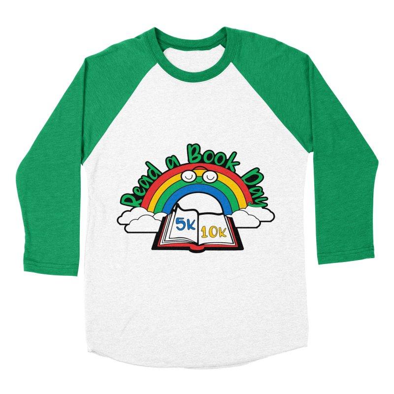 Read a Book Day 5K & 10K Men's Baseball Triblend T-Shirt by moonjoggers's Artist Shop