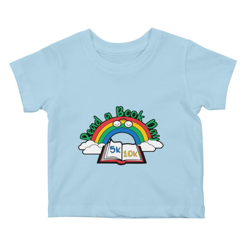 Read a Book Day 5K & 10K Kids Baby T-Shirt by moonjoggers's Artist Shop