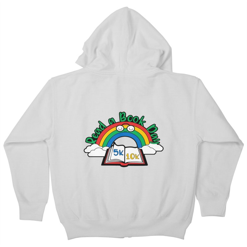 Read a Book Day 5K & 10K Kids Zip-Up Hoody by moonjoggers's Artist Shop