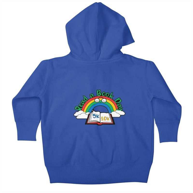 Read a Book Day 5K & 10K Kids Baby Zip-Up Hoody by moonjoggers's Artist Shop