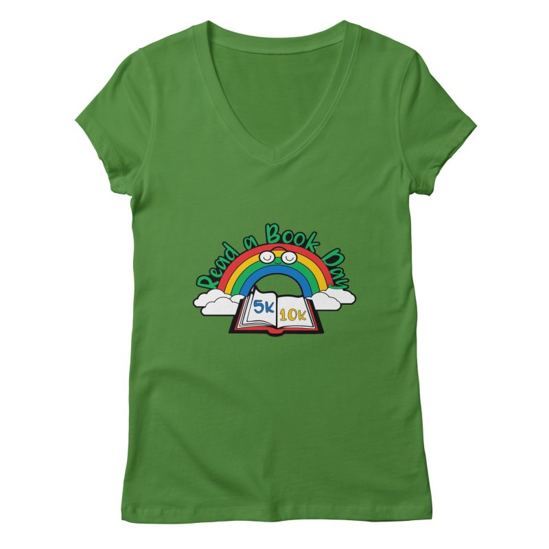 Read a Book Day 5K & 10K Women's V-Neck by moonjoggers's Artist Shop