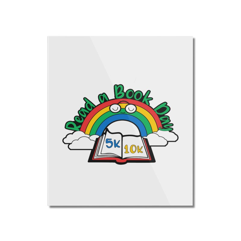Read a Book Day 5K & 10K Home Mounted Acrylic Print by moonjoggers's Artist Shop