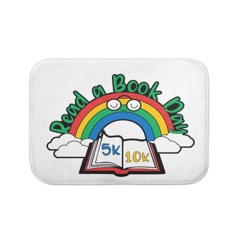 Read a Book Day 5K & 10K Home Bath Mat by moonjoggers's Artist Shop
