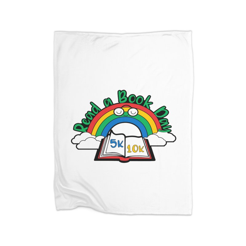 Read a Book Day 5K & 10K Home Blanket by moonjoggers's Artist Shop
