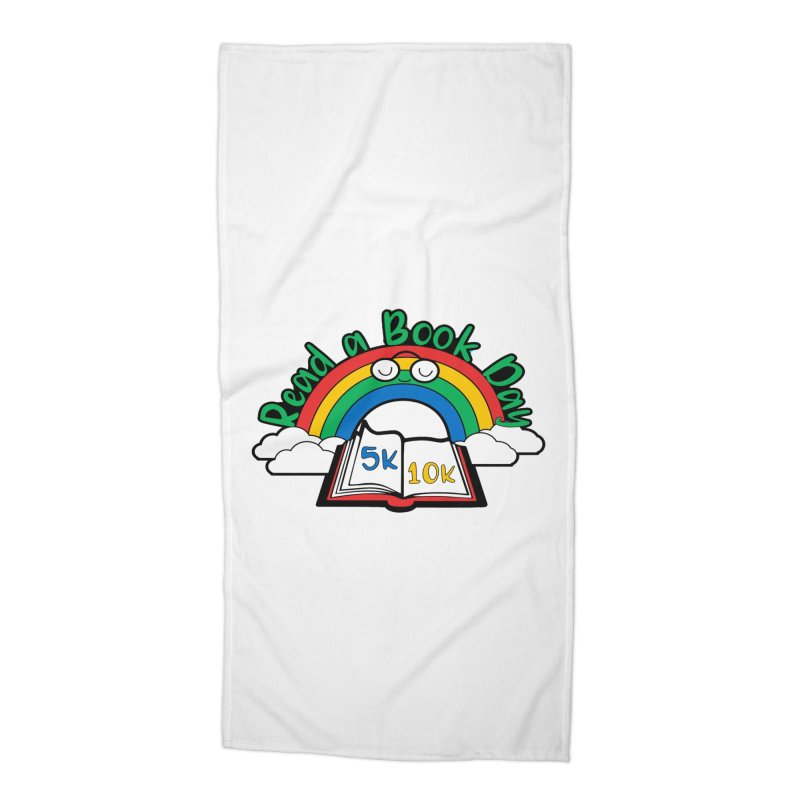 Read a Book Day 5K & 10K Accessories Beach Towel by moonjoggers's Artist Shop