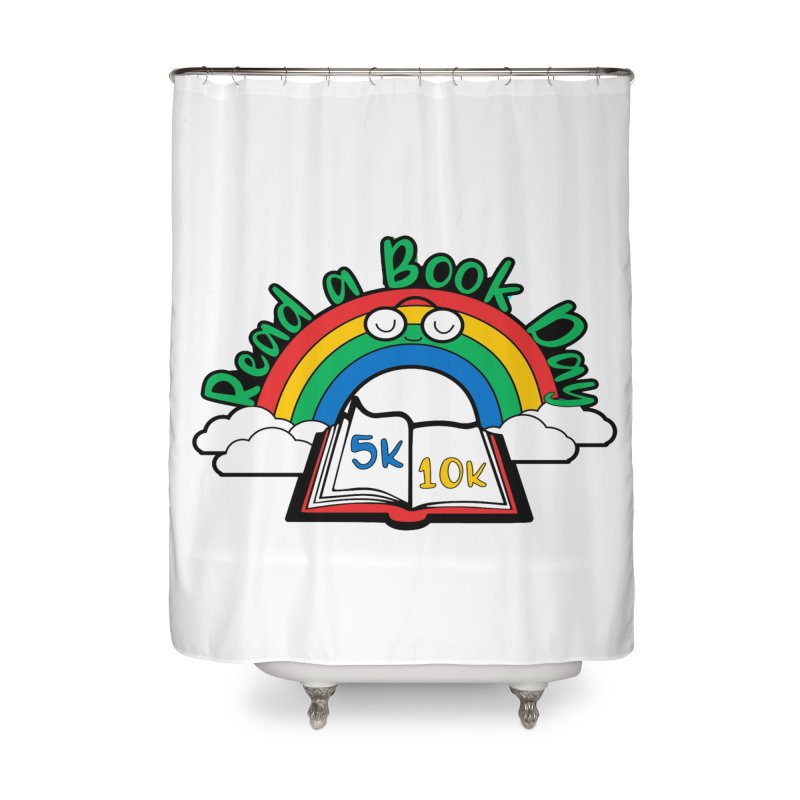 Read a Book Day 5K & 10K Home Shower Curtain by moonjoggers's Artist Shop