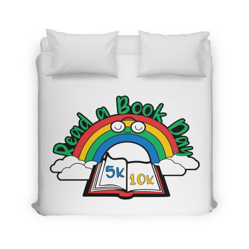 Read a Book Day 5K & 10K Home Duvet by moonjoggers's Artist Shop