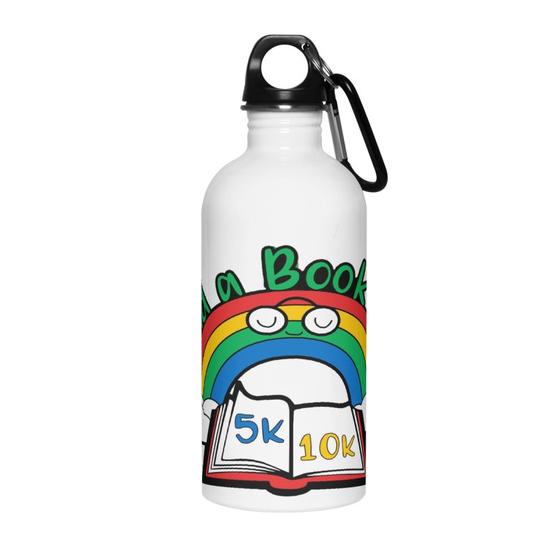 Read a Book Day 5K & 10K Accessories Water Bottle by moonjoggers's Artist Shop