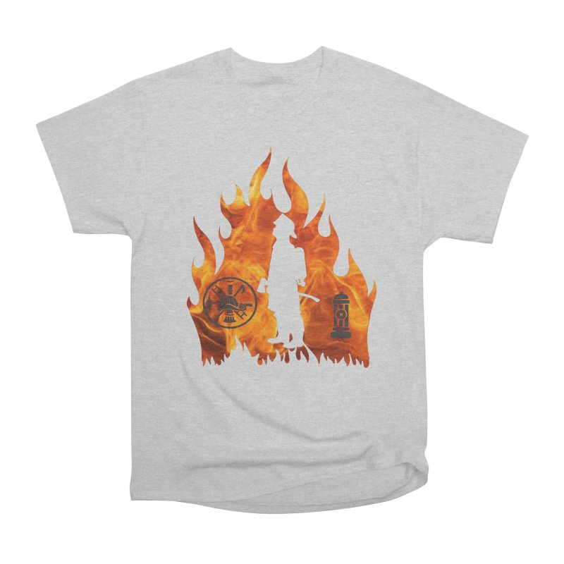 Firefighters 5K & 10K Women's Heavyweight Unisex T-Shirt by moonjoggers's Artist Shop