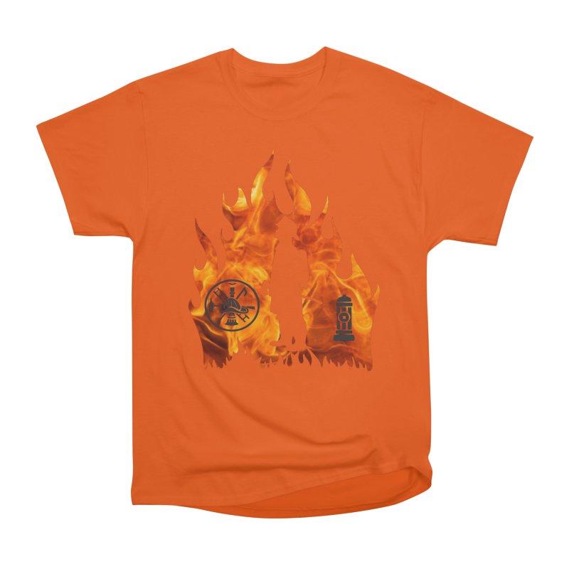 Firefighters 5K & 10K Men's Heavyweight T-Shirt by moonjoggers's Artist Shop