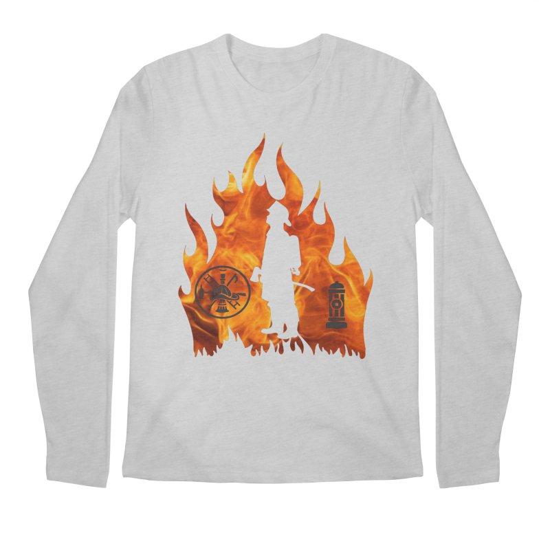 Firefighters 5K & 10K Men's Longsleeve T-Shirt by moonjoggers's Artist Shop