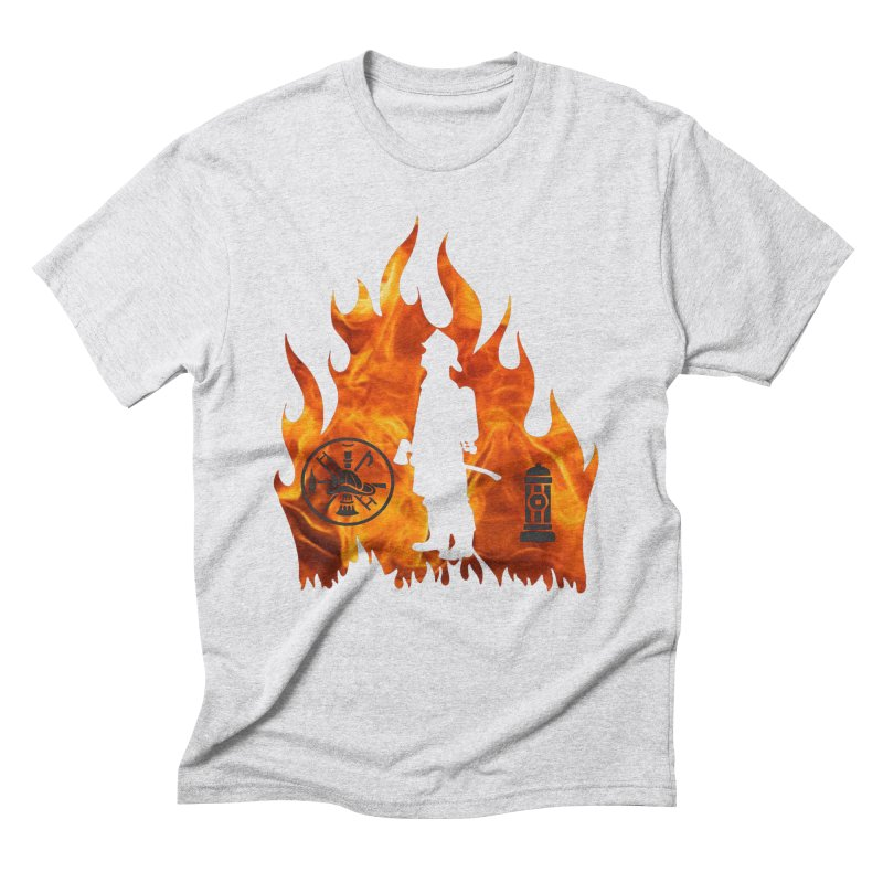 Firefighters 5K & 10K Men's Triblend T-Shirt by moonjoggers's Artist Shop