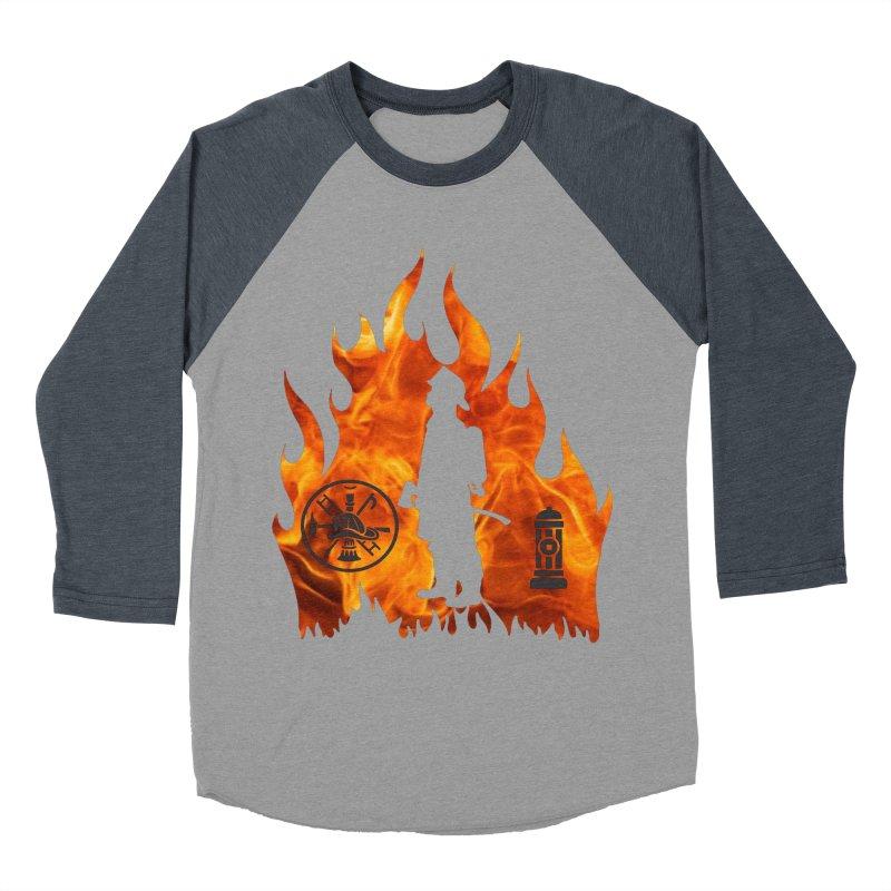 Firefighters 5K & 10K Men's Baseball Triblend T-Shirt by moonjoggers's Artist Shop