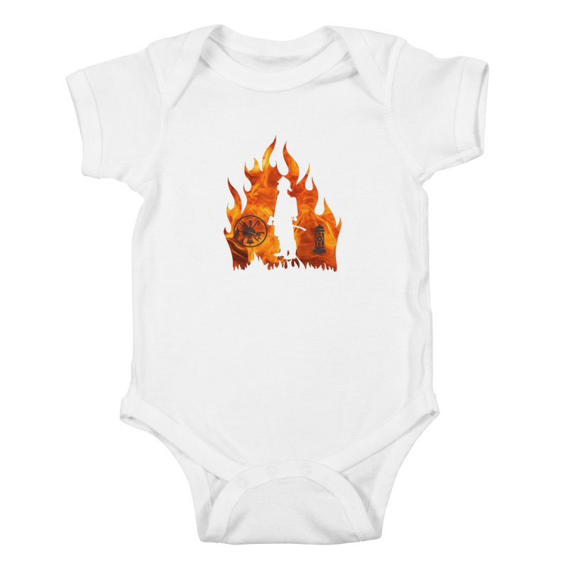Firefighters 5K & 10K Kids Baby Bodysuit by moonjoggers's Artist Shop